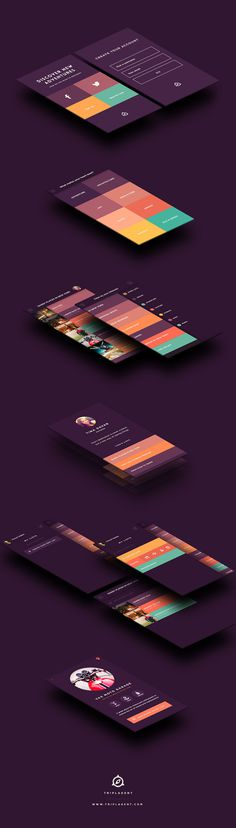 TriplAgent Branding and Design #mobile #flat #user experience #ui