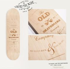 Graphic-ExchanGE - a selection of graphic projects #old #simple #wood #burned #natural #skateboard #typography