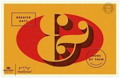 design work life » cataloging inspiration daily #ampersand #yellow #retro #typography
