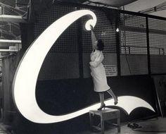 Piccadillly Sign Coca-Cola C 1954 #logo #coke #vintage #picture