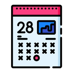 See more icon inspiration related to calendar, clock, time, date, time and date, business and finance, deadline and business on Flaticon.