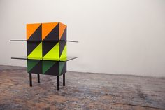 KIM THOME #reflect #glass #wood #furniture #neon