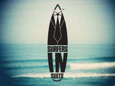 Surfers In Suits- Identity/Logo for Surfing Victoria- Mila #surfer #business #surf #corporate #identity #logo #australia #suit