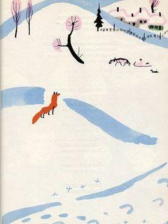 Animalarium: The Rainbow Book #illustration #fox #winter
