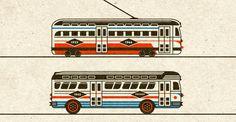 Riley Cran | Streetcar + Bus #illustration