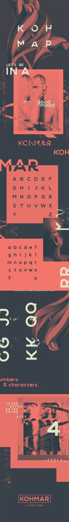KOHMAR FONT on Behance