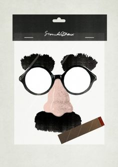 Miscellaneous #illustration #groucho #disguise #marx