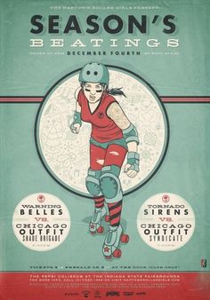 seasonsbeatings_lrg.jpg (JPEG Image, 800x1143 pixels) - Scaled (72%) #roller #design #derby #advertising #comic #illustration #vintage #art #poster
