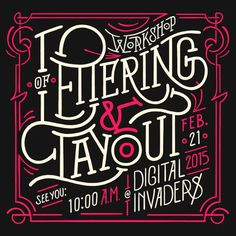 Lettering & Layout Workshop by Sindy Ethel #post #lettering #victorian #workshop #poster #layout