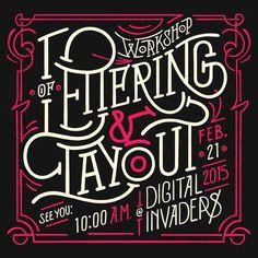 Lettering & Layout Workshop by Sindy Ethel #post #lettering #victorian #workshop #poster #layout
