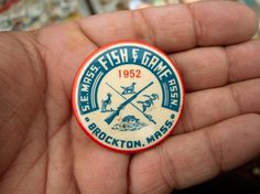 All sizes | Brockton, 1952. | Flickr - Photo Sharing! #typography #flickr #button #draplin
