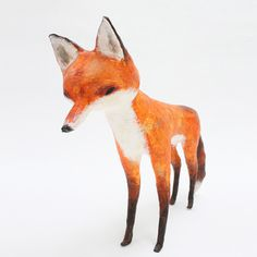 Abigail Brown: creature textile designer extraordinaire animals #sculpture #paper #fox