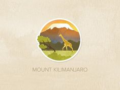 Day Fifteen: Mount Kilimanjaro #logo #illustration