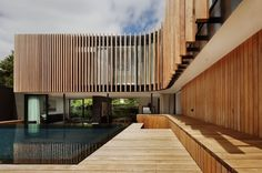 kr_040511_07 » CONTEMPORIST #modern #architecture #wood #house #pool #facade