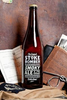 BLDGWLF #beer #packaging #drink #stoke #bomber #typography