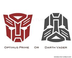 Optimus Prime Or Darth Vader | Pic | Gear #darth #vader #prime #optimus
