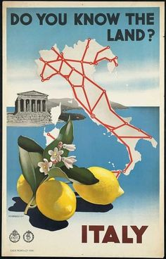 Italy.jpg (JPEG Image, 600x937 pixels) #lemons #vintage #poster #art #italy