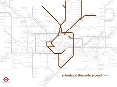 Animals on the Underground by Paul Middlewick.