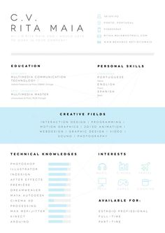 CV/Resume on Behance #cv