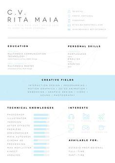 CV/Resume on Behance #cv
