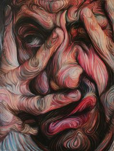 Nikos Gyftakis | PICDIT #design #portrait #painting #art #face