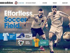 Adidas #adidas #site #ipad #design #minimal #art #sport #web