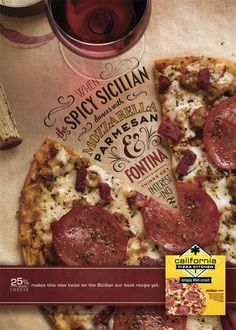 California Pizza Kitchen typography #advertisement #photography #food