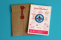 Chris and Leesa Wedding Invitation #rustic #color #letterpress #patch #envelope #kraft #one #outdoor #wedding