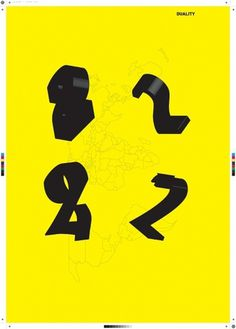 two multiplied by duality #yellow #two #black #multiplied #by #poster #duality