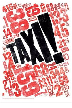 FFFFOUND! | Blanka || Supersize #letterpress #taxi #woodblock #typog #typography