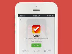 App Detail View [with Animation] - achievement #flat #design #iphone #screen #app