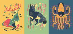 Owen Davey Illustration - Animal Notebooks #illustration #animal