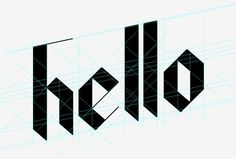 hello #lettering #typography