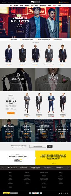 Homepage design for Suit Direct
