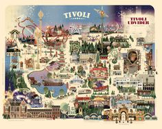 Copenhagen Tivoli Christmas park map on Behance