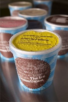 The Ice Cream Union - Packaging - Interstate Associates - +44 (0)20 7313 7627 #packaging #icecream #identity