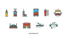 Icons of Istanbul by Tamer Koseliturkey #turkey #design #icons