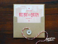 Letterpress wedding invite by Letterpress Winkel
