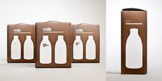Designer Milk Packaging - TheDieline.com - Package Design Blog #packaging #milk #design #typography