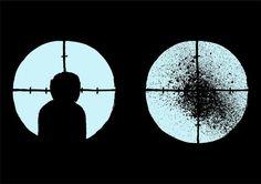 Jean Jullien's online portfolio: SILOUETTES #jean #jullien #silhouette #sniper