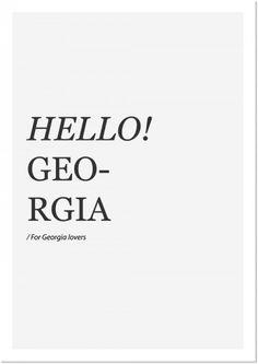 Tumblr #georgia #print #poster #typography