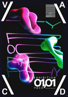 #poster #Typography #exhibition #3d #shape