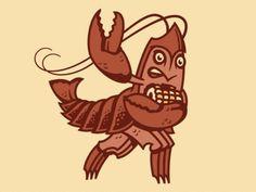 Crawfish Boil #design #crawfish #illustration #heisman #character