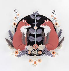 Gemini: Happinez magazine 2012 #cut #paper