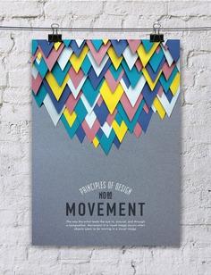 paper art posters con los principios del diseño movimiento