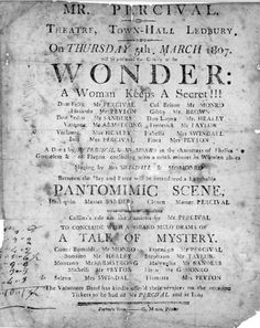 Nineteenth Century Theatre in Ledbury