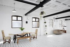 London Studio Apartment Combining Scandinavian and Industrial Design Details 2