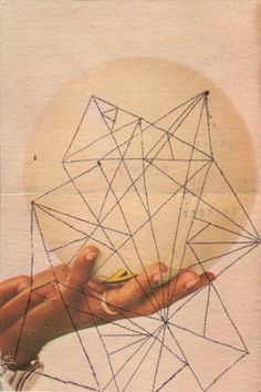 WAFA Postcard | Flickr - Photo Sharing! #geometric #collage #hand #postcard