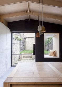 Plywood House by Simon Astridge. #concrete #plywood #simonastridge #nook #backyard #minimal #door #window