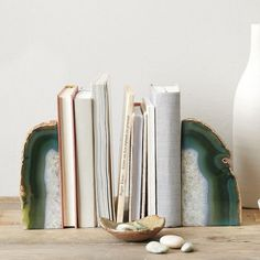 Agate Bookends, West Elm